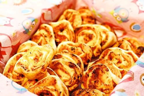 Pizza-Schnecken fürs Muki-Znüni (oder Apéro oder Snack oder …)